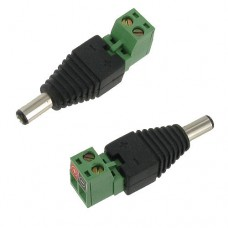 2.1mm x 5.5mm Male Terminal Strip DC Power Connector