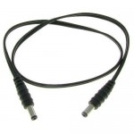 2' Male to Male 2.1mm x 5.5mm Plug DC Power Adapter Cable 18GA