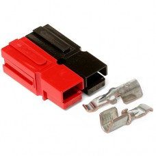 45 Amp Permanently Bonded Red/Black Anderson Powerpole Connectors (10 sets)