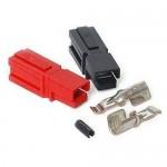 45 Amp Unassembled Red/Black Anderson Powerpole Connectors (10 sets)