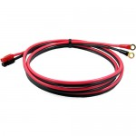 6' 10GA Power Supply Cable with 45 amp Powerpole Connectors 1/4 inch Rings