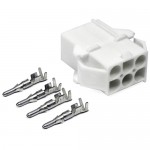 6-Pin Power Connector for HF Amateur Radio Chassis Mounting