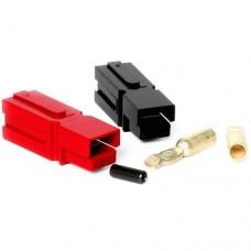 75 Amp Unassembled Red/Black Anderson Powerpole Connectors (Gauge: 10, 2 sets)