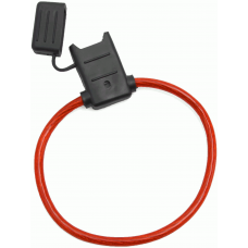 ATC/ATO Inline Fuse Holder (Gauge: 10, Color: Red)