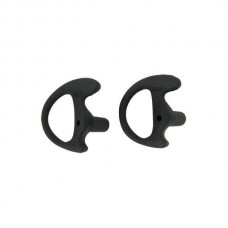 Black Replacement Large Earmold Earbud Right Side Two-Way Radio Audio Kits 2 Pack