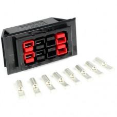 Chassis Mount for 4 Powerpole Connectors Sets (8 conductors) (Configuration: Assembled)