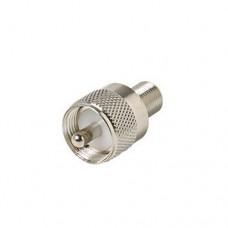 F Female to UHF Male Coax Cable Adapter