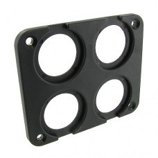 Four Hole Square Panel Mount for DC Power Meters, Switches, Gauges, Plugs