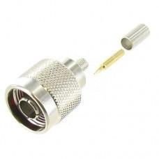 N Male Crimp Connector for RG58/LMR-195 Coax CableConnectors