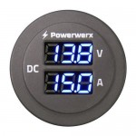 Panel Mount Combo Amp & Volt Meter for 12/24V Systems