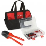 PowerpoleBag Powerpole Crimping Tool and Assorted Powerpole Case in Nylon Gear Bag