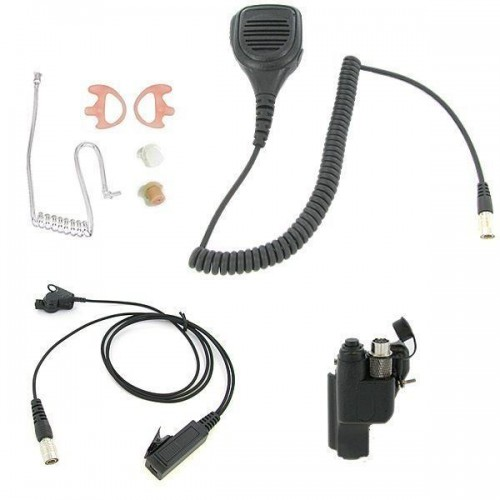 3.5mm Surveillance Plug Coil Tube Earbud Audio Kit for Two-way Radios
