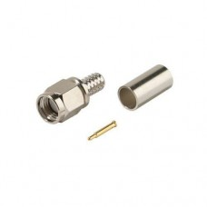 SMA Male Crimp-On 3 piece Coax Connector for RG58A Coax Cable