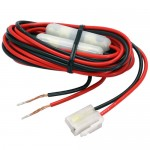 Two-Way Mobile Radio Power Cable T-Style Female Connector w/Fuse Protection