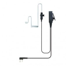Valley 2-Wire Coil Earbud Audio Mic Surveillance Kit for Kenwood Two-Way Radios