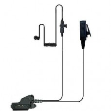 Valley 2-Wire Coil Earbud Audio Mic Surveillance Kit for Motorola Two-Way Radios HT1000, XTS5000  - Black Edition