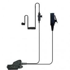 Valley 2-Wire Coil Earbud Audio Mic Surveillance Kit for Motorola Two-Way Radios HT1000, XTS5000  - Black EditionMotorola