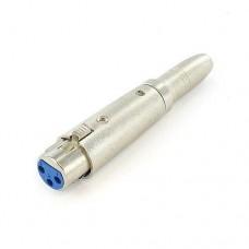 XLR Female to 6.35mm Female Mono Microphone Mic Adapter