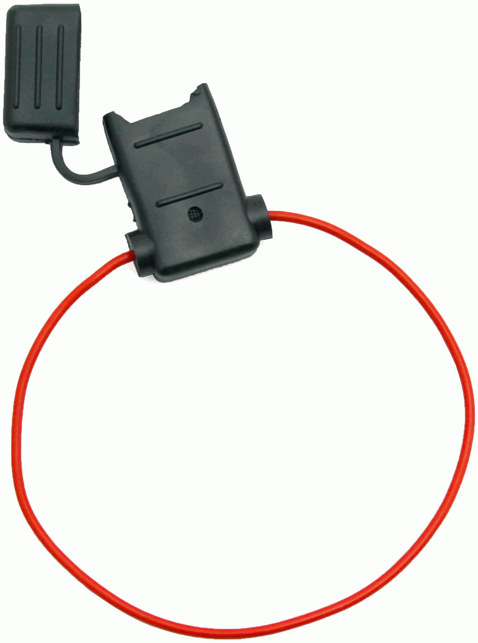 SCOSCHE ATCFH18-5 18 Gauge ATO Fuse Holder with CVR