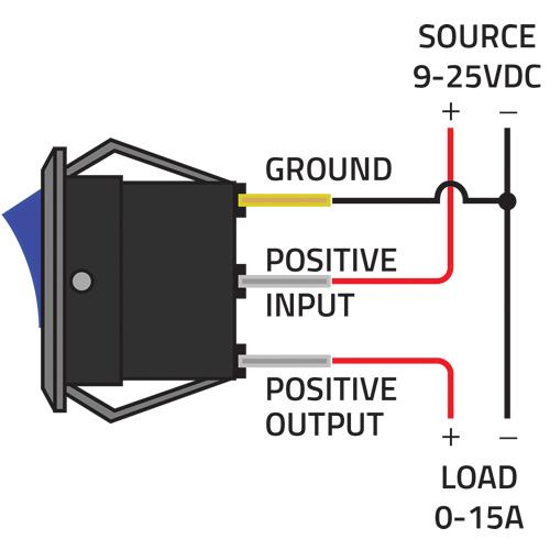 12v illuminated toggle switch wiring diagram  tiger shark